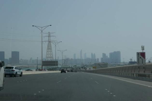 abudhabi highway skyline